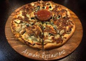 پیتزا سیر و استیک نرمال